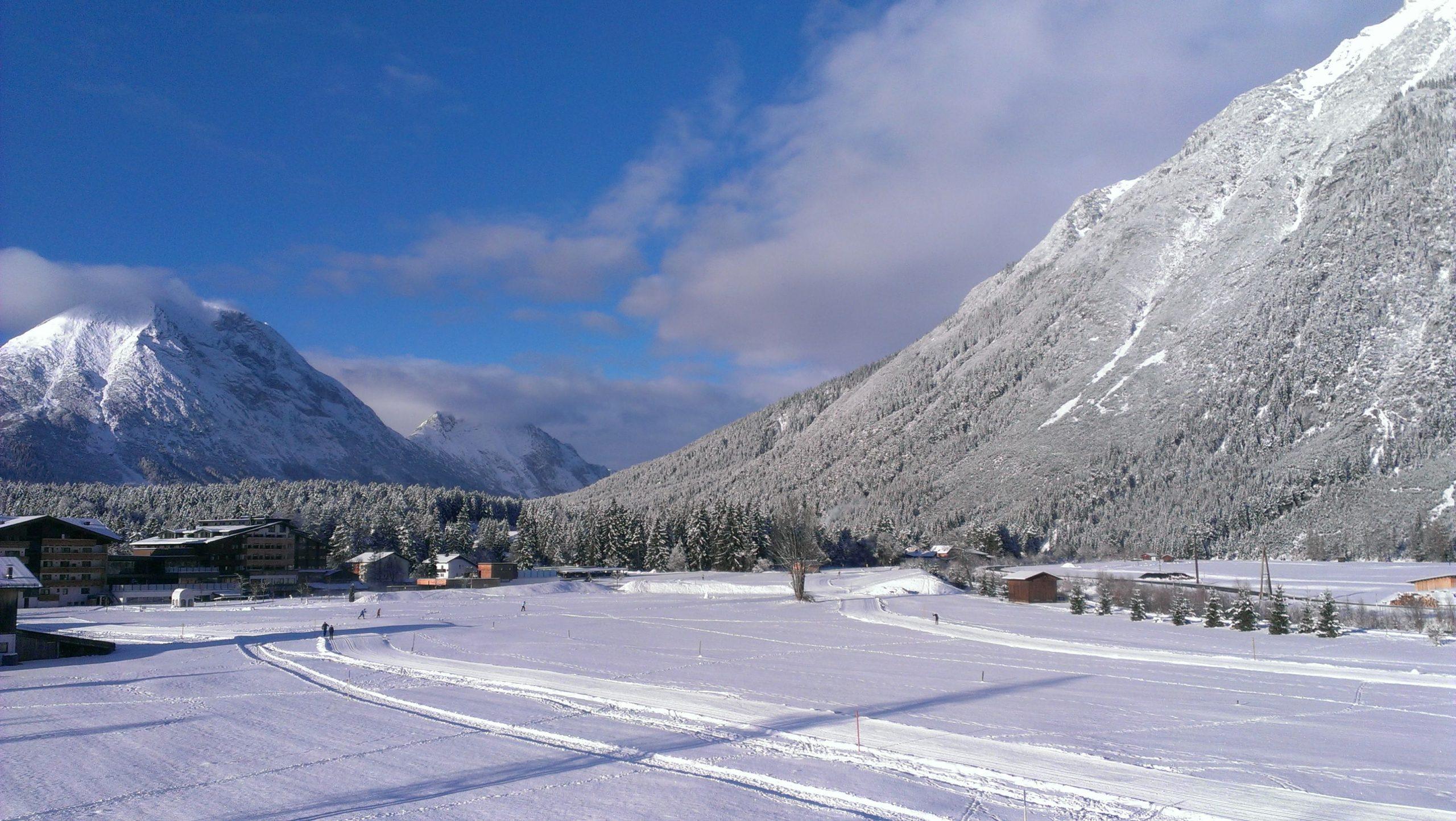 Winteransicht von Leutasch