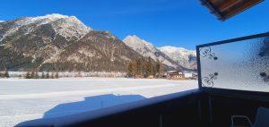 Aussicht Nord-Balkon Winter